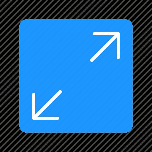 arrows, expand, maximize, maximize button icon