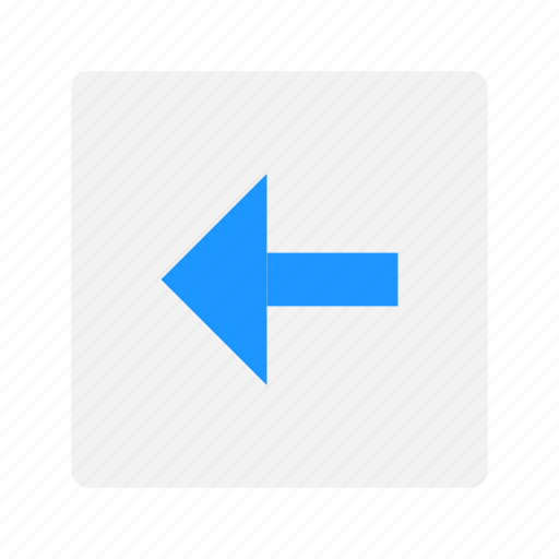 arrow, back button, pointer, return button icon