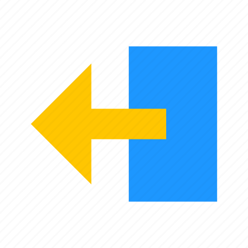 arrow left, back button, pointer, return button icon