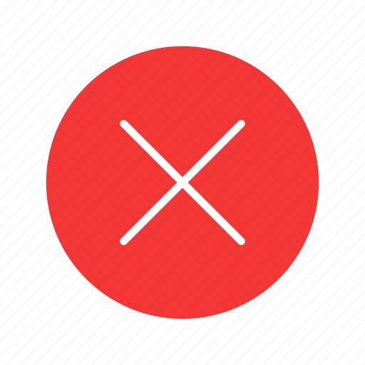 close button, delete button, remove, wrong sign icon