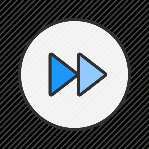 fast forward, forward, next, skip icon