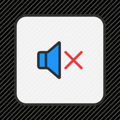 mute, no sound, silent, speakers icon