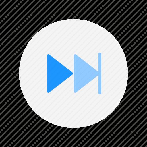 arrow, fast forward, next, next button icon