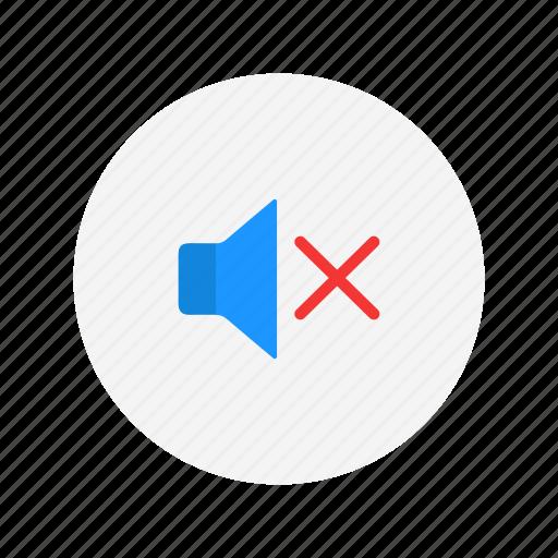 audio, mute, no sound, sound icon