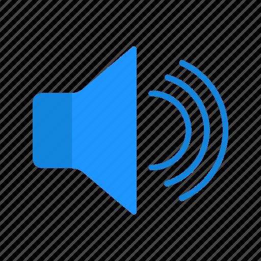 audio, speaker, volume, volume up icon