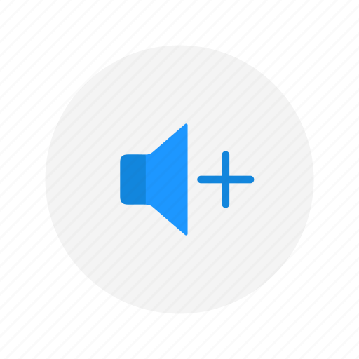 add volume, audio, plus, sound icon