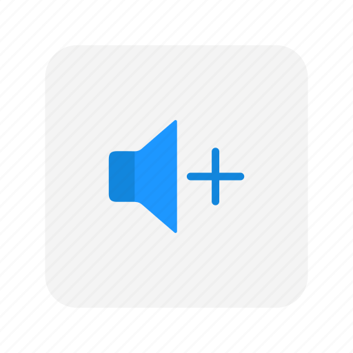 add volume, audio, sound, speaker icon
