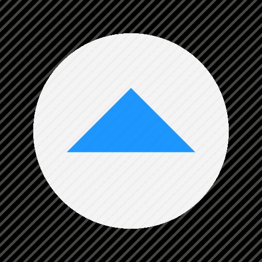 arrow up, channel button, navigate, remote icon