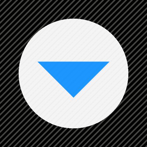 arrow down, channel button, down, next icon