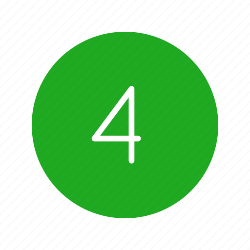 four, number, number four, remote icon