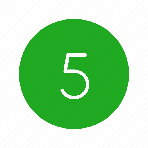 channel number, five, number, number five icon