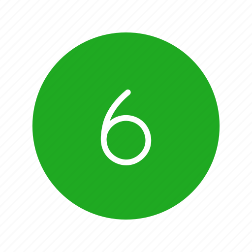 channel button, number, number six, six icon