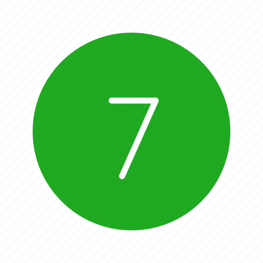 channel button, number, number seven, seven icon