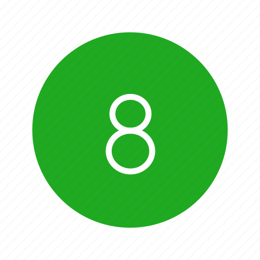 channel button, eight, number, number eight icon