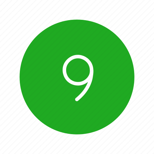 channel button, nine, number, number nine icon