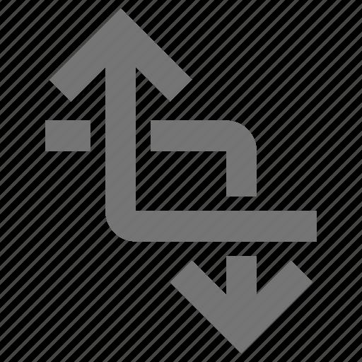 arrow, arrows, crop icon