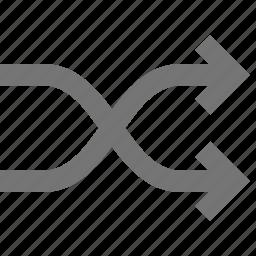 arrow, arrows, crossover, shuffle icon