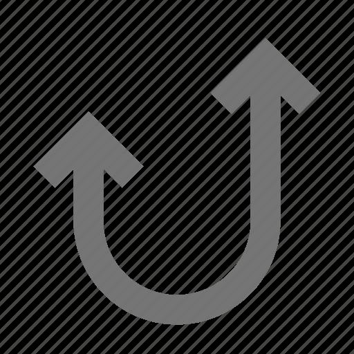 arrow, arrows, curve icon