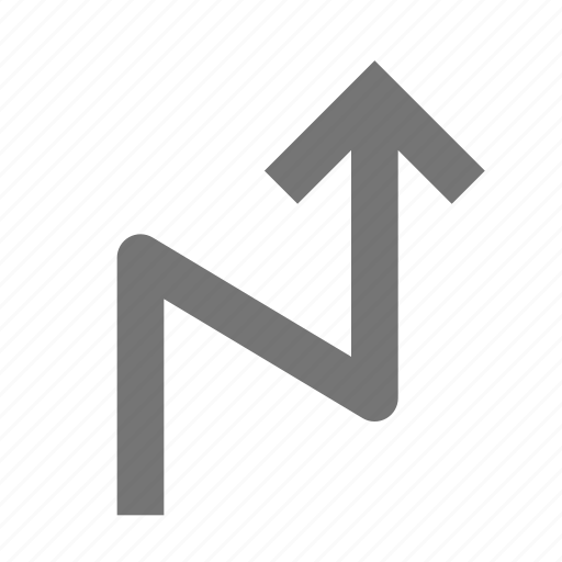 arrow, zigzag icon