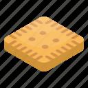 bakery, biscuit, breakfast, cartoon, dessert, isometric, square