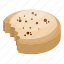 bake, cartoon, chip, chocolate, cookie, homemade, isometric