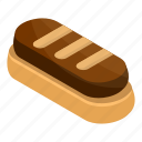 bakery, biscuit, brown, cartoon, chocolate, isometric, small
