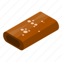 bar, candy, cartoon, chocolate, isometric, pack, package
