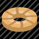 bake, biscuit, cartoon, chip, chocolate, circle, isometric