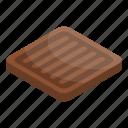 biscuit, cake, cartoon, chocolate, cookie, isometric, square