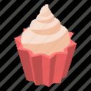 bakery, birthday, cake, cartoon, celebration, cupcake, isometric