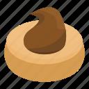american, bake, cartoon, chocolate, cookie, creme, isometric