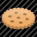 biscuit, cartoon, cookie, cracker, food, isometric, snack
