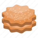 biscuit, cartoon, christmas, cookie, delicious, isometric, star