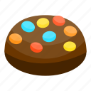 biscuit, cartoon, chocolate, cookie, isometric, snack, sweet