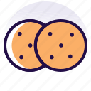 bakery, biscuit, biscuits, cookie, cookies, food, snack icon