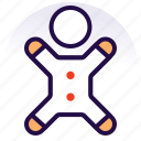 bakery, biscuit, christmas, cookie, food, gingerbread icon