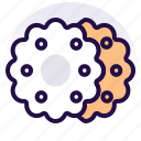 bakery, biscuits, cookie, cookies, food, snack icon
