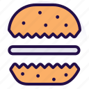 bakery, burger, cookies, cream biscuit, food, snack icon