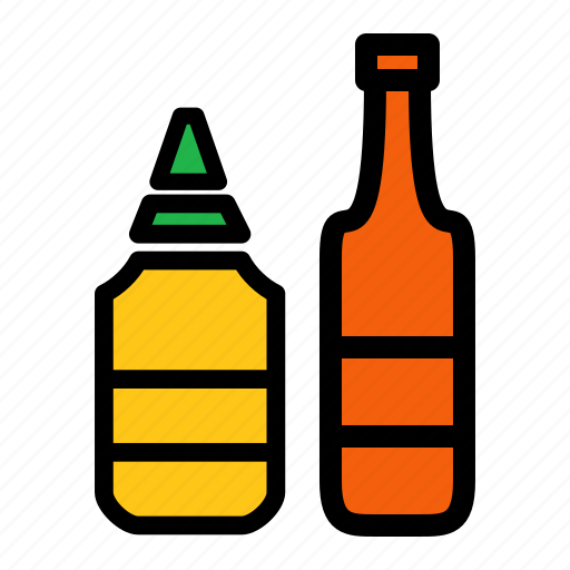 catsup, ingredient, ketchup, mustard icon