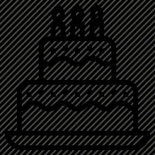 bake, bakery, birthday, cake, party icon