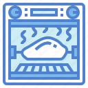 chicken, grill, roll, rotisserie icon