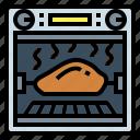 chicken, grill, roll, rotisserie