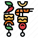 barbecue, food, grill, skewer icon