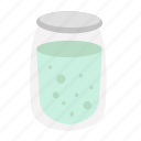 food, glass, kitchen, package, water icon