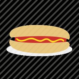 bread, burger, food, hotdog, meat, sausage icon