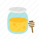 bee, food, honey, jar, sweet icon
