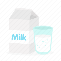 box, drink, food, milk, package, water icon