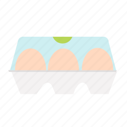 box, chicken, egg, food, package icon