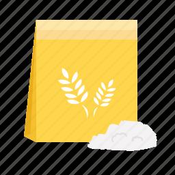 cereal, flour, food, grain, ingredient, powder, rice icon