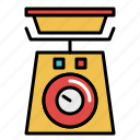 cooking, food, ingredients, kitchen, recipe, restaurant, scale icon